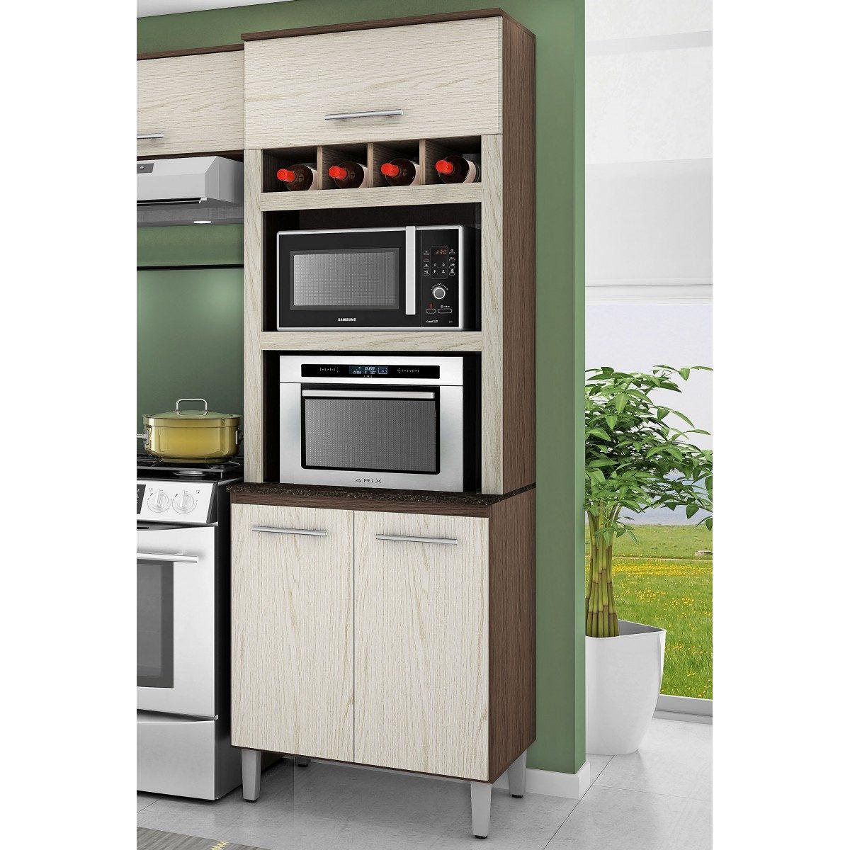100% Mdf Cozinha Modulado Torre Quente Armário Basculante R$ 2.099  #978A34 1200x1200 Armario Banheiro Modulado
