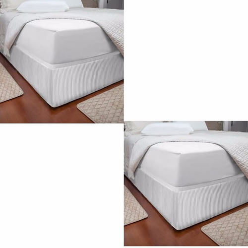 2 saia p cama box queen king size casal protetor for Cama queen size or king size