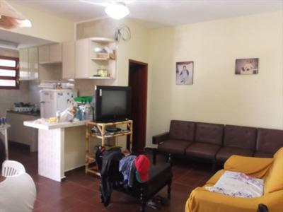 Ref.: 590 - Casa Em Itanhaem, No Bairro San Marcos - 2 Dormitórios