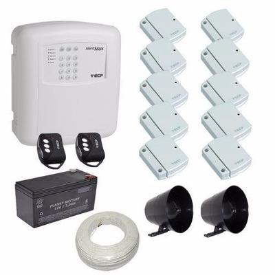 Kit Alarme Casa / Comercio Ecp 10 Sensores Sem Fio Discadora