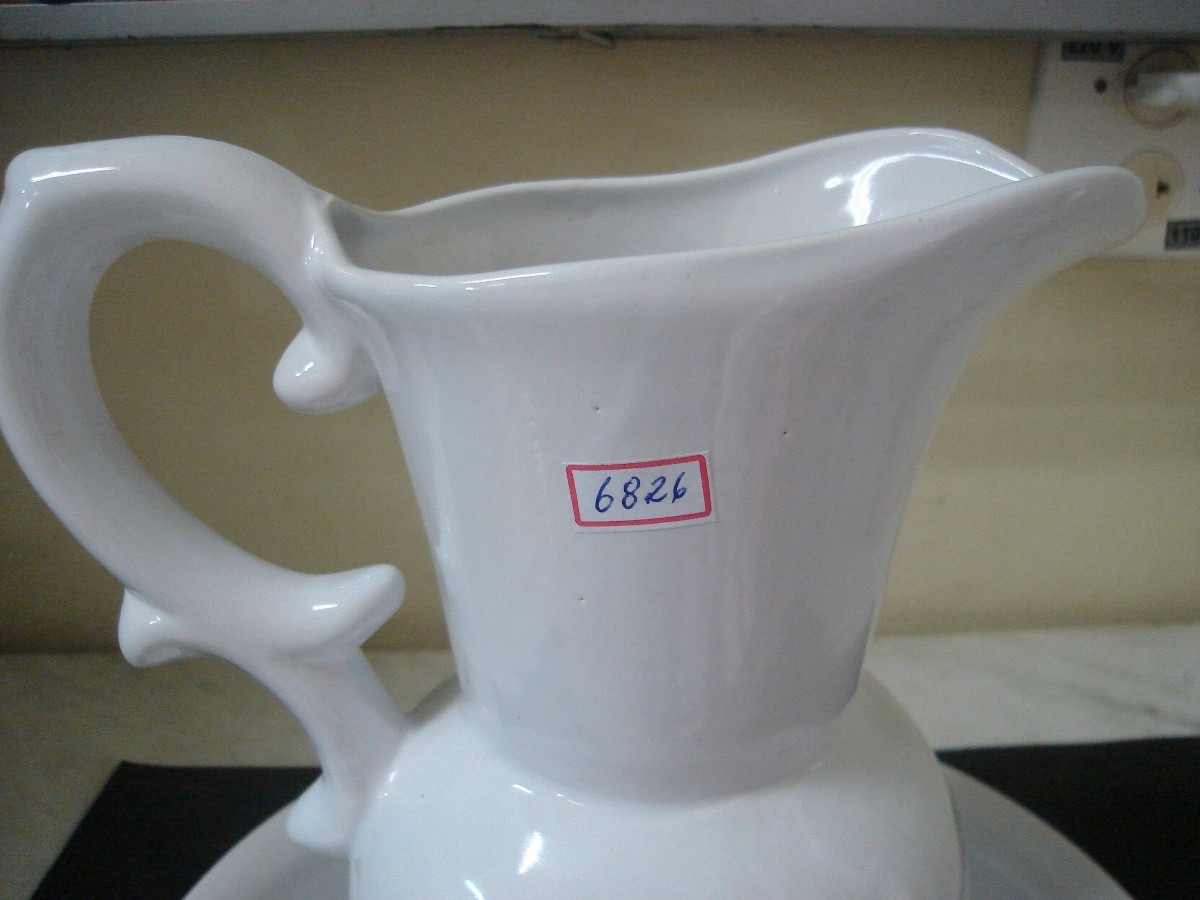 6826 jarro e bacia de porcelana branca r 58 00 em for Marcas de vajillas de porcelana