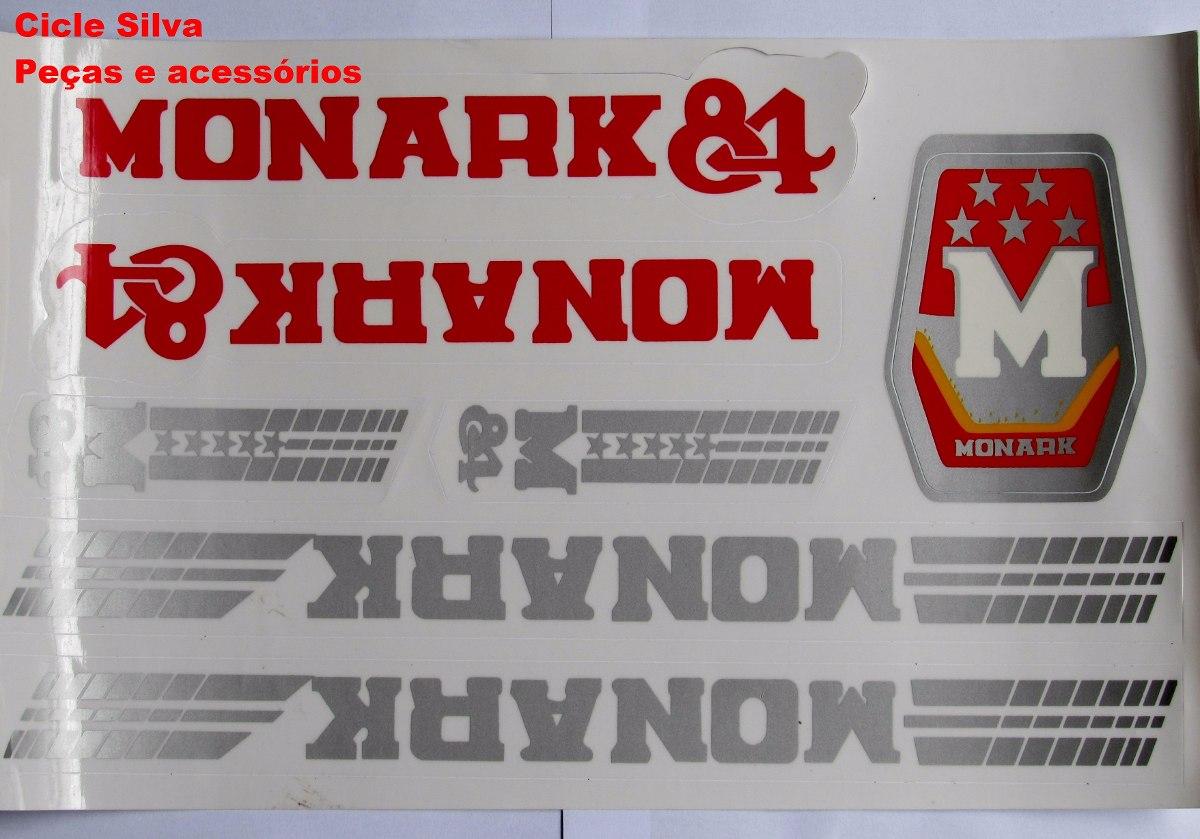Adesivo De Parede Onde Comprar ~ Adesivo De Bicicleta Monark 84 Frete Grátis R$ 19,99 em Mercado Livre