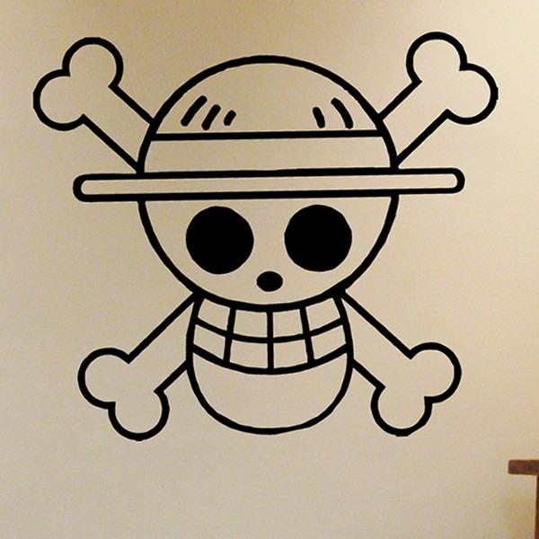 Artesanato Em Madeira Para Cozinha ~ Adesivo Decorativo De Parede One Piece Caveira Pirata