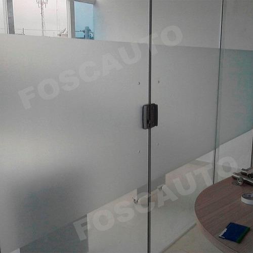 Adesivo Jateado Box Banheiro Porta Blindex Janela 2m X 50cm  R$ 11,00 em Mer -> Porta Para Banheiro Pequeno Mercado Livre