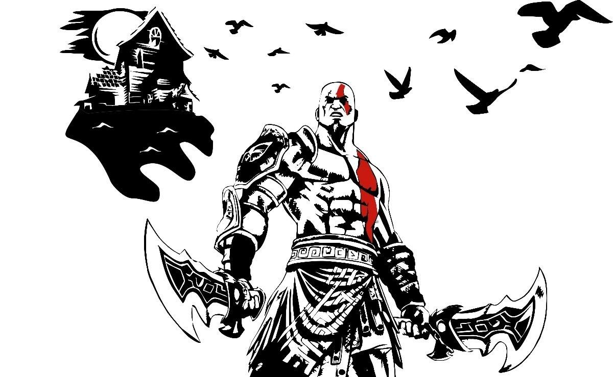 Mueble Aparador Gris Ceniza ~ Adesivo Kratos God Of War Para Cap u00f4 De Carro Ou Parede R$ 79,99 em Mercado Livre