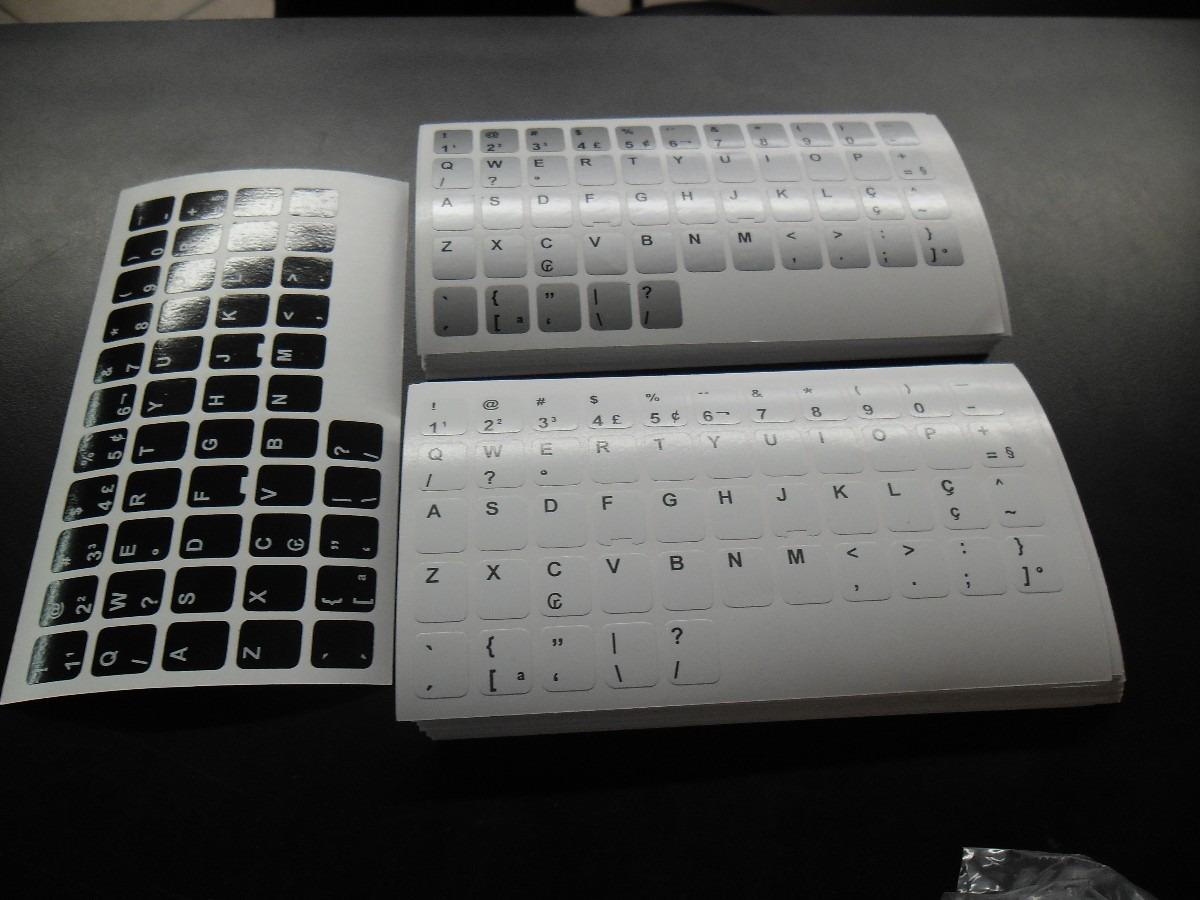 Aparador Madeira ~ Adesivo Para Teclado De Notebook tambem Pra Passar Pra Abnt R$ 29,98 em Mercado Livre
