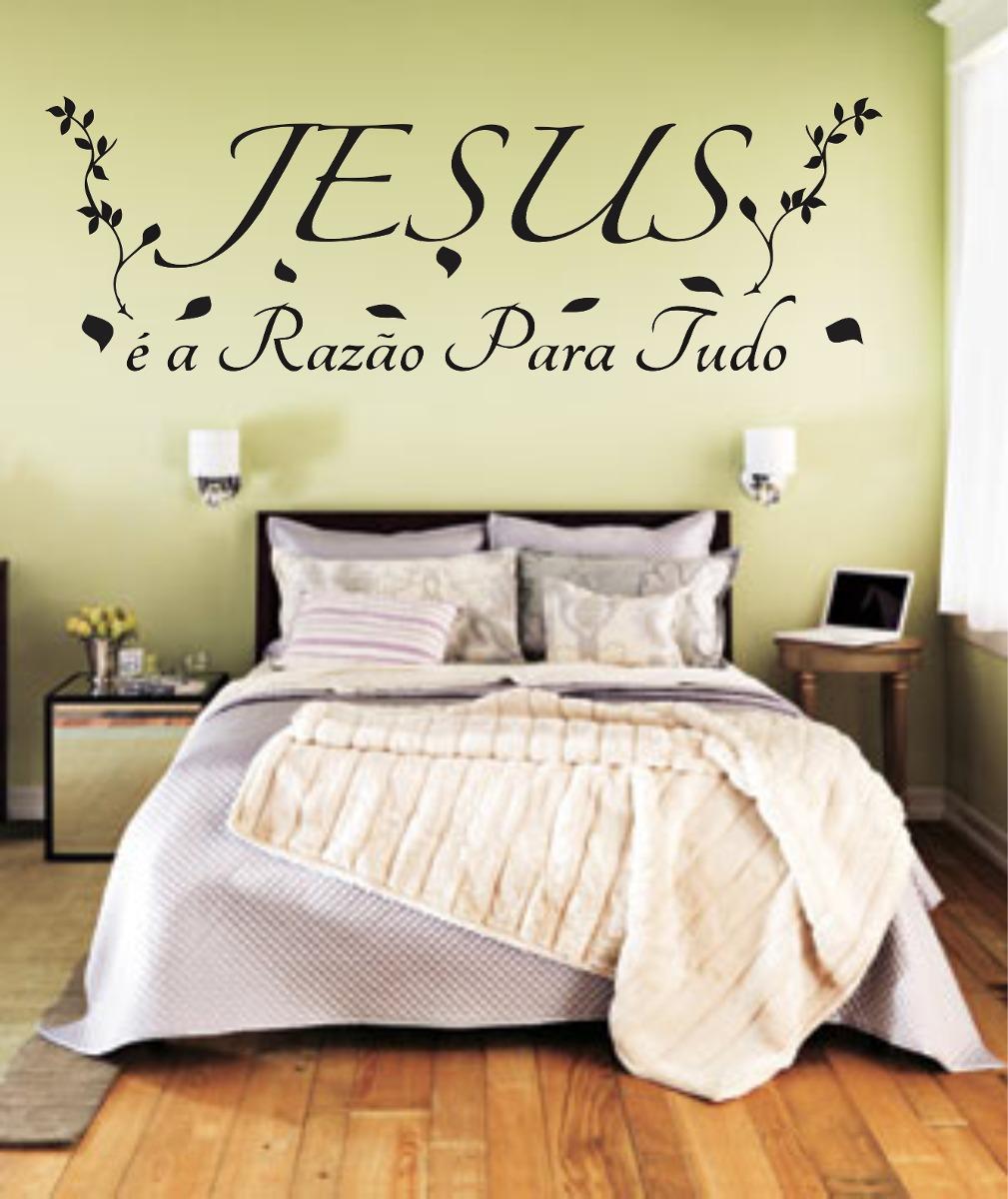 Adesivo Parede Religioso Quarto Frase Jesus Razão Para  ~ Adesivo De Parede Quarto Frases