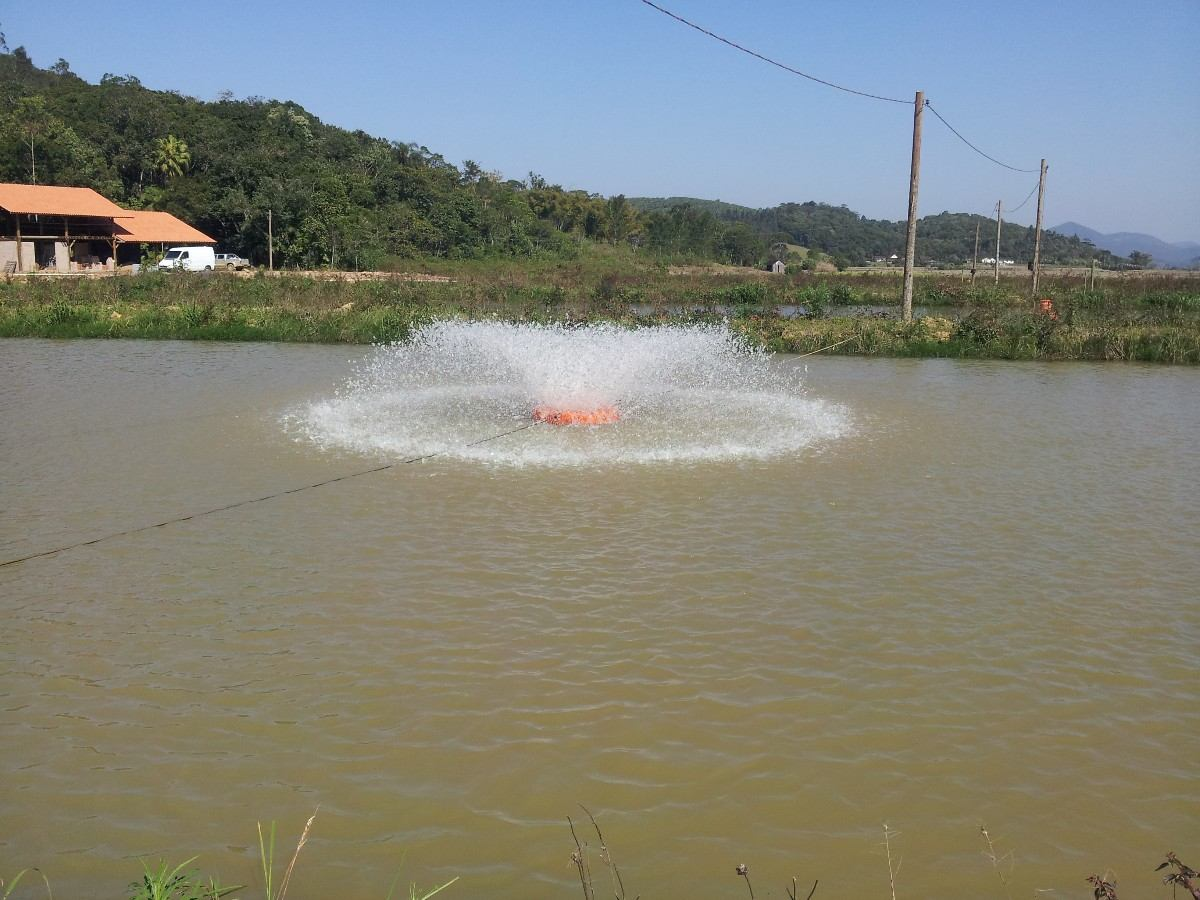 Aerador p piscicultura 1 5 cv 50m de cabo el trico for Elaboracion de estanques para piscicultura