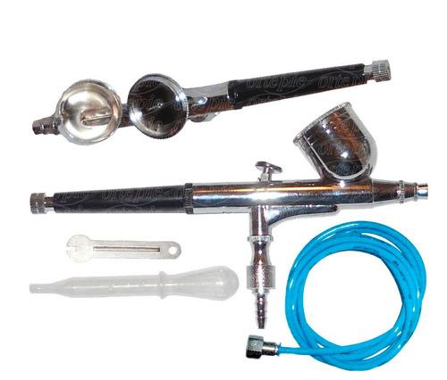 aerógrafo profissional copo fixo 0,2mm + mangueira/conector