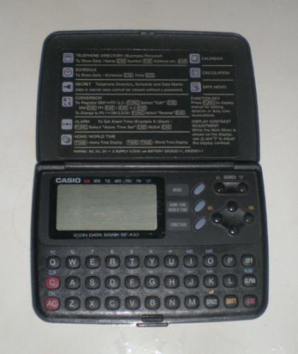 agenda eletronica casio sf-a10 c/ lista celular / telefone