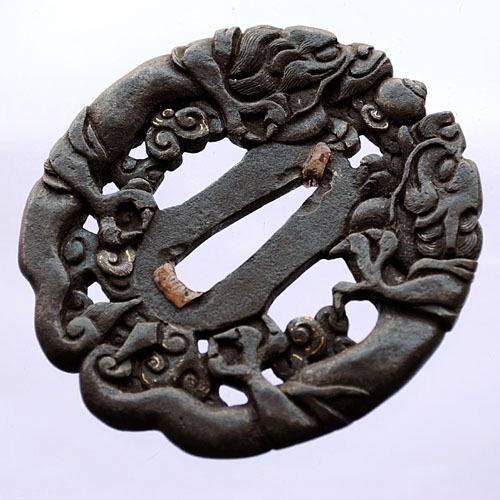 antiga tsuba 48 - escola shoami - espada samurai, katana