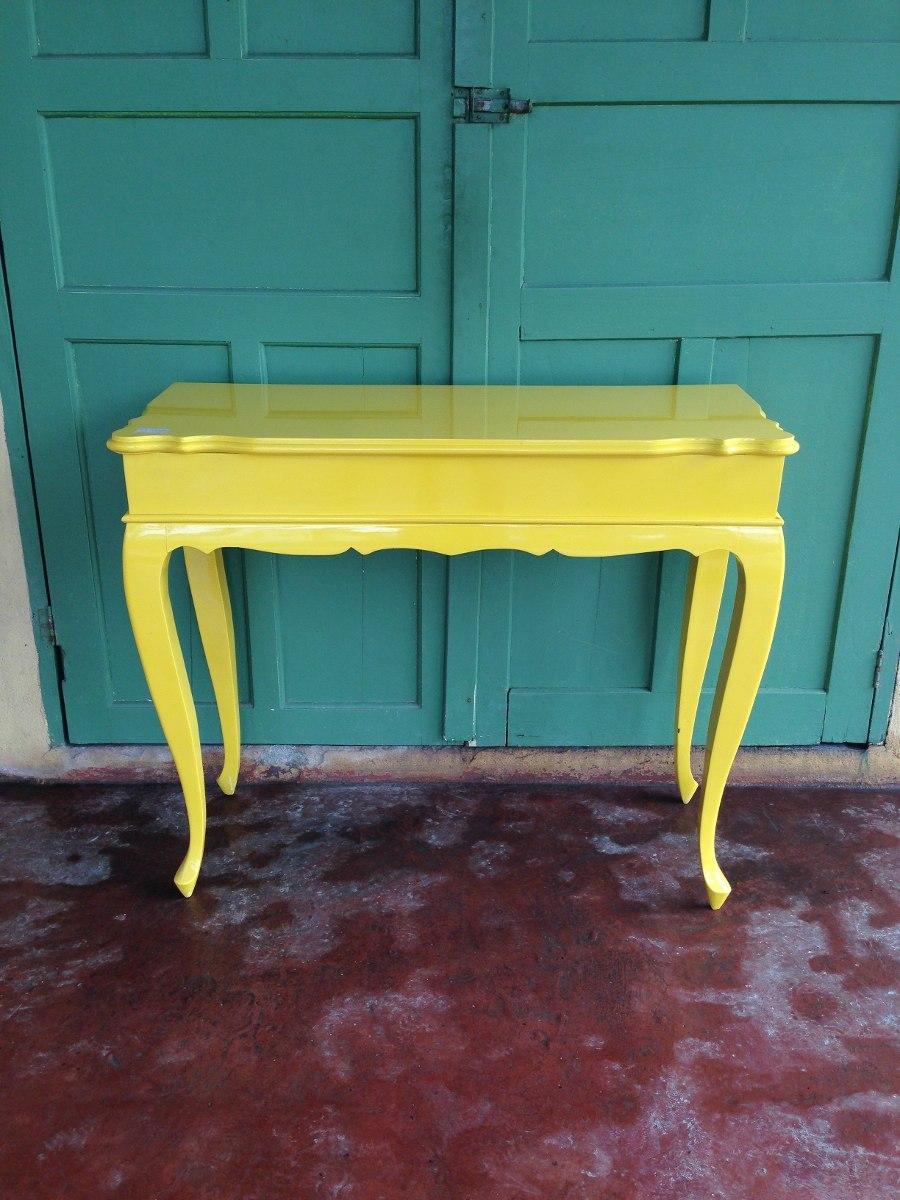Artesanato Açores ~ Aparador Provençal Amarelo (0294) R$ 800,00 em Mercado Livre