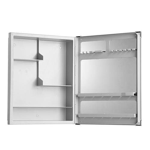 Armário C Espelho Alumínio Versátil 36x45cm Al43 Astra  R$ 90,90 em Mercado -> Armario Banheiro Astra Aluminio