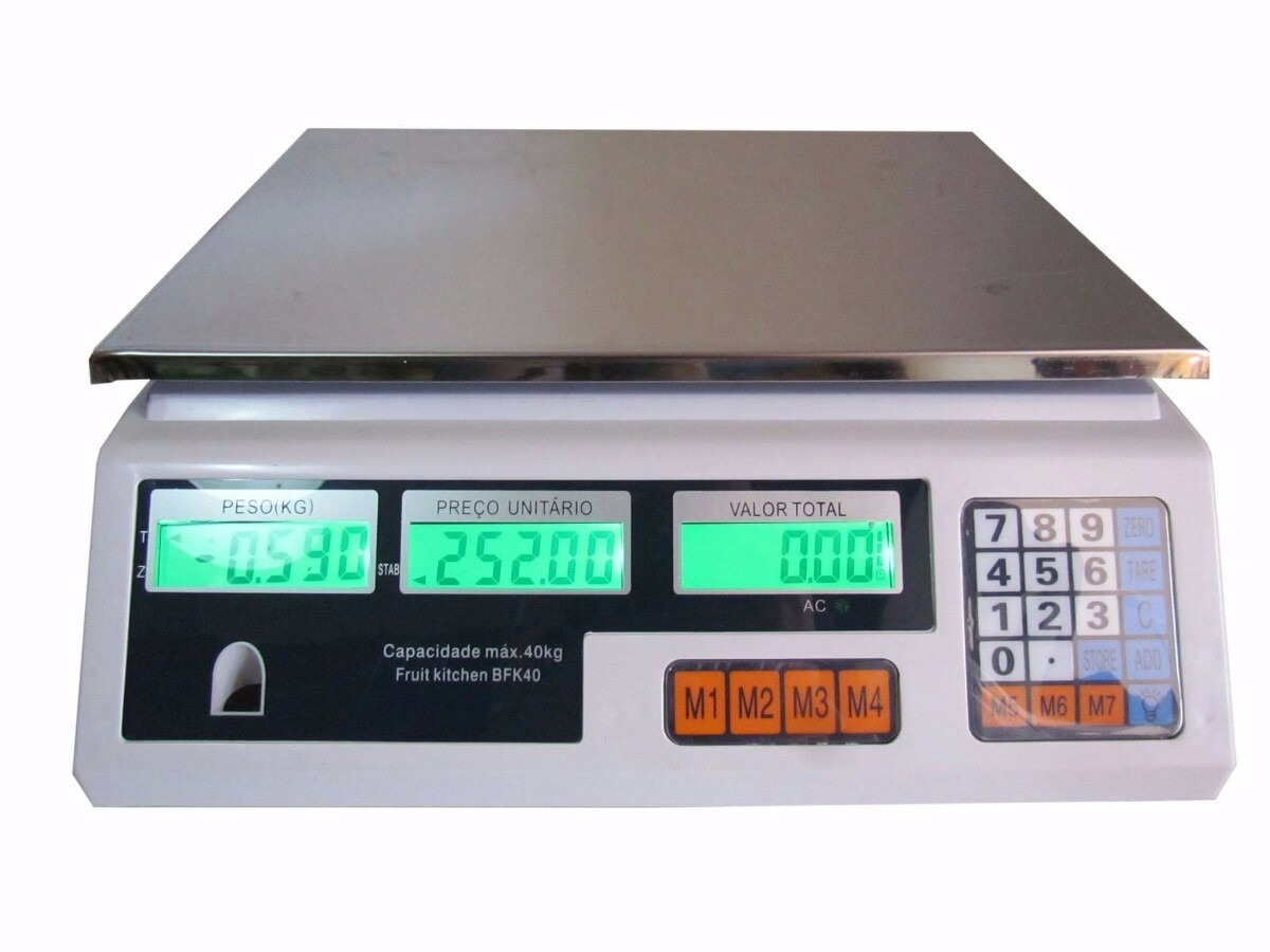 Balança Eletrônica Digital 40kg Alta Precisão C/bateria R$ 215 88  #07C47F 1200x900 Balança Digital Banheiro Porto Alegre