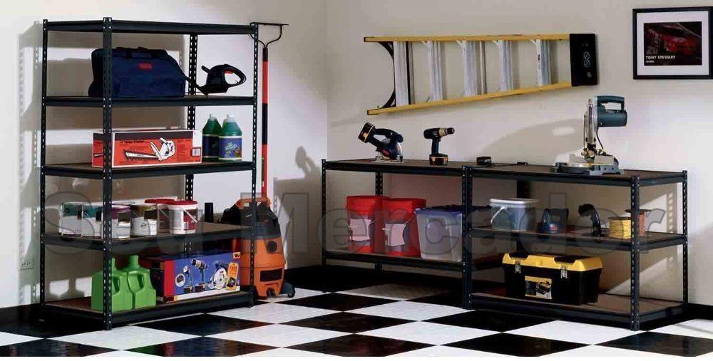 Bancada de trabalho ferro com madeira vira mesa ou estante for Estantes de oficina