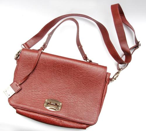 Bolsa De Couro Via Uno : Bolsa via uno couro r em mercado livre