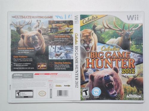 Cabela's Big Game Hunter 2012 Jogo De Nintendo Wii ...