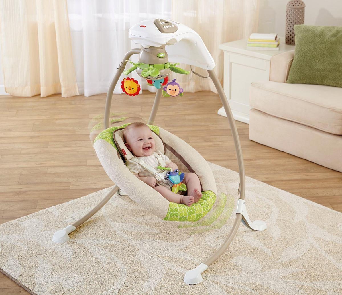 cadeira balanço fisher price deluxe cradle 'n swing #A0932B 1200x1036