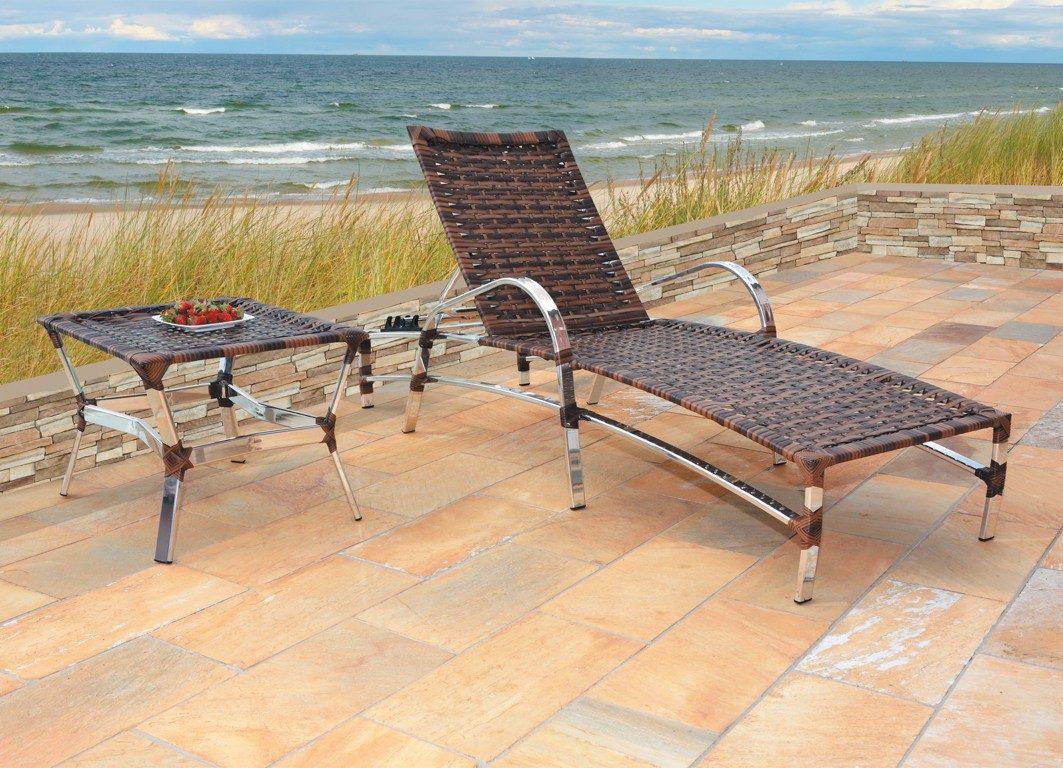 Cadeira De Piscina Fibra Sintética Alumínio Junco R$ 985 00 em  #9E672D 1063x768