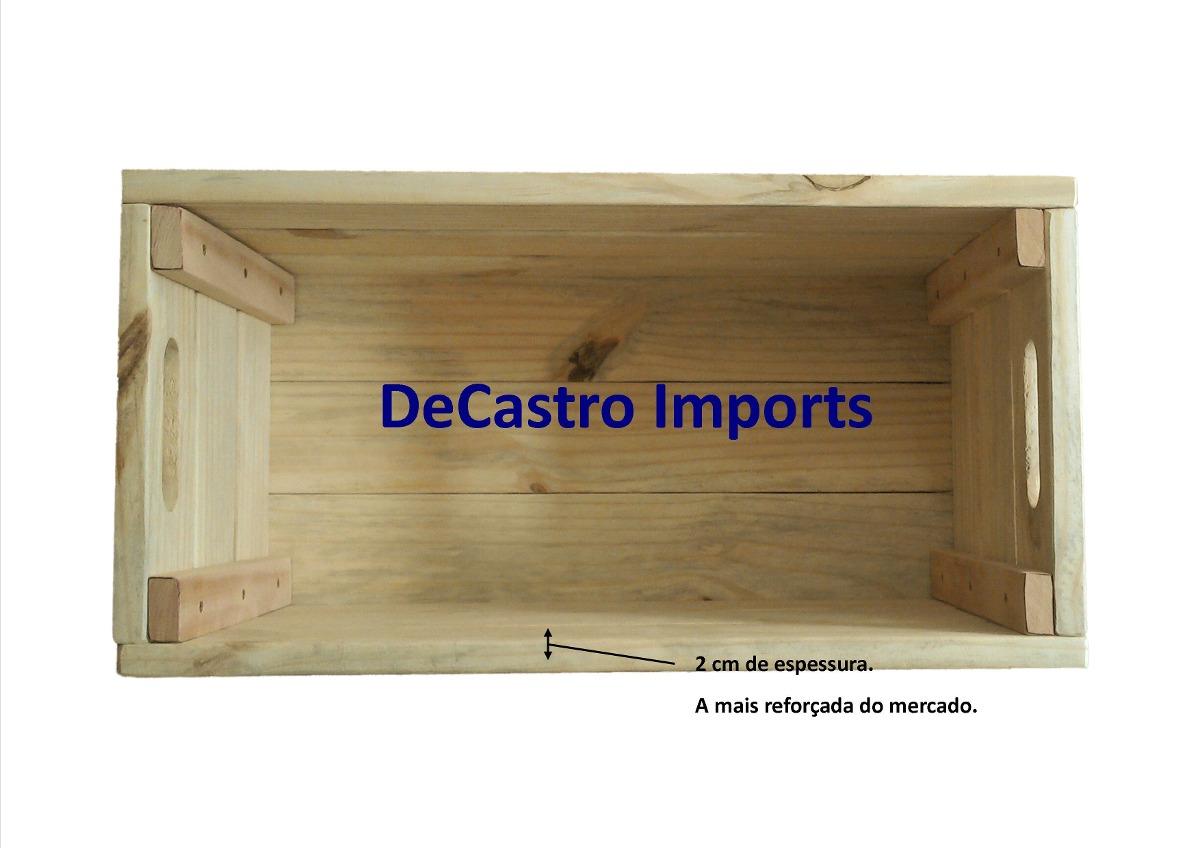Caixa Caixote De Feira Novo Madeira Ecológica Decoração R$ 59  #171272 1200x848
