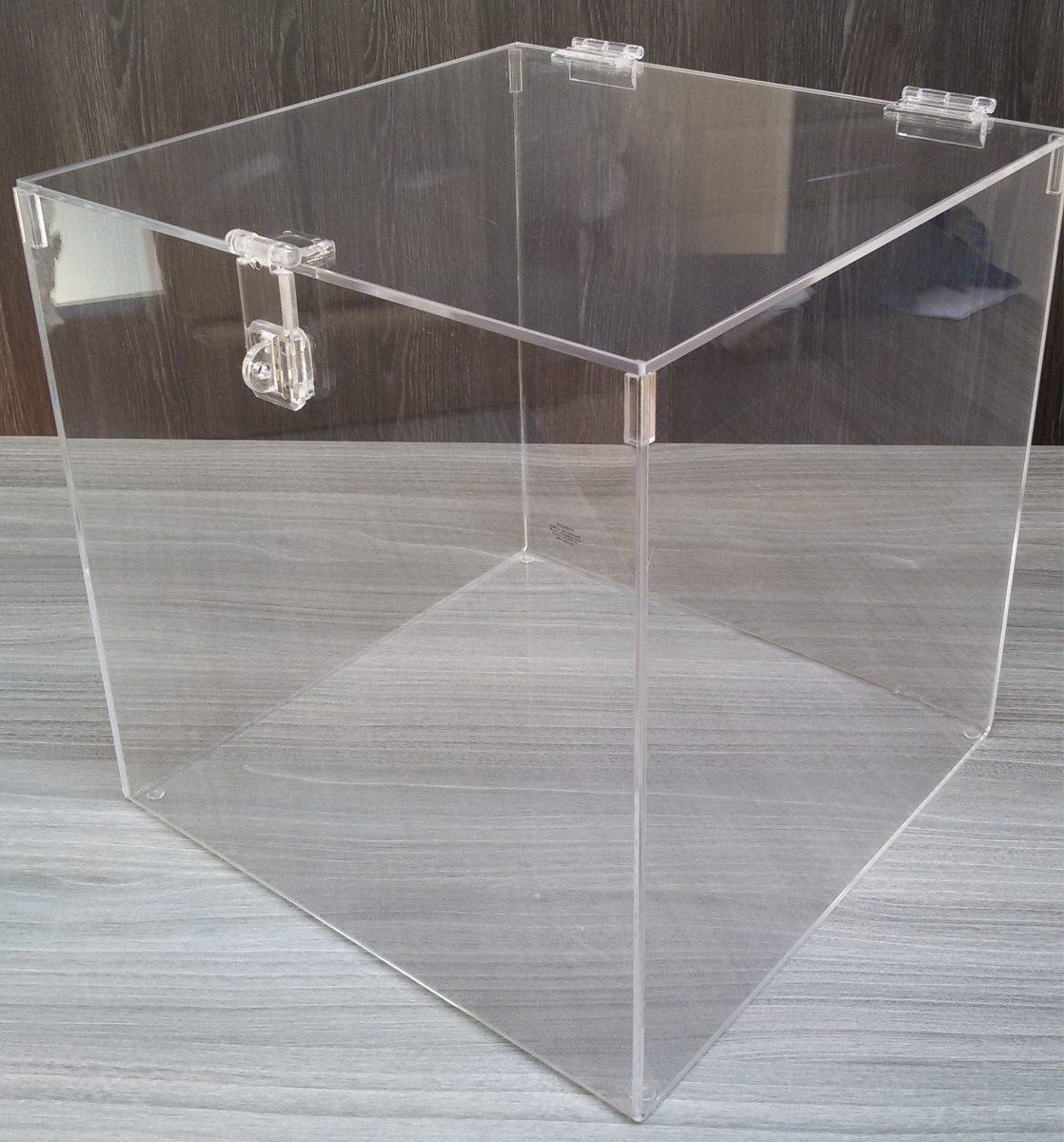 caixa para buqu em acr lico 30x30x30 fecho para cadeado r 174 90 em mercado livre. Black Bedroom Furniture Sets. Home Design Ideas