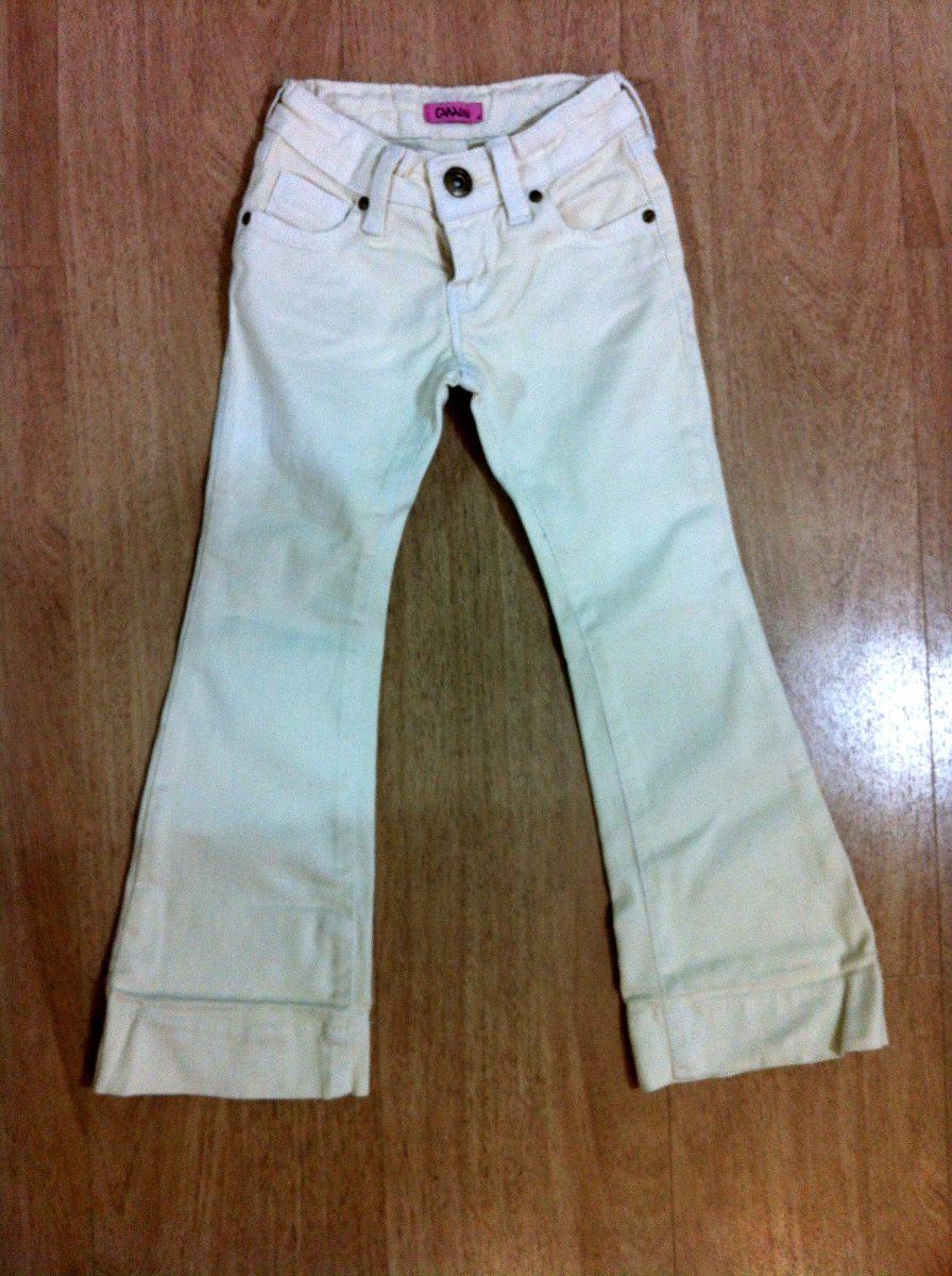 Calça Branca Jeans Flare Da Canal Kids! Tamanho 4! Promoção! - R$ ...