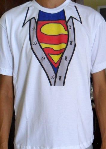 camiseta superman fantasia  carnaval criativa engraçada