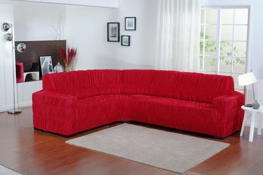 Capa de sofa bege de canto para sof at 6 lugares r for Sofa 6 lugares de canto