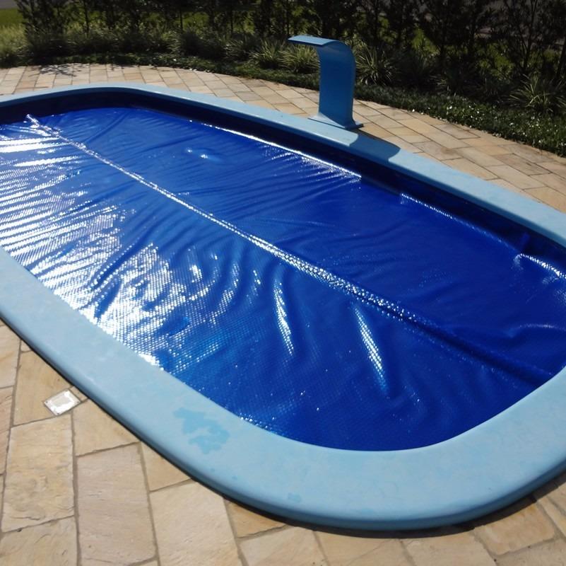 capa manta t rmica bolha flutuante para piscina 8x4