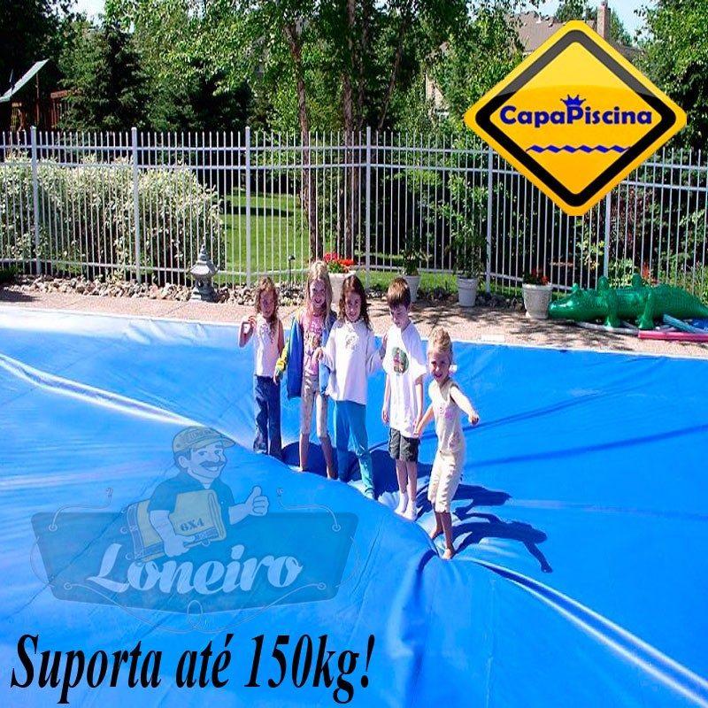 Capa para piscina 9x5 lona prote o cobertura t rmica azul for Lona termica piscina
