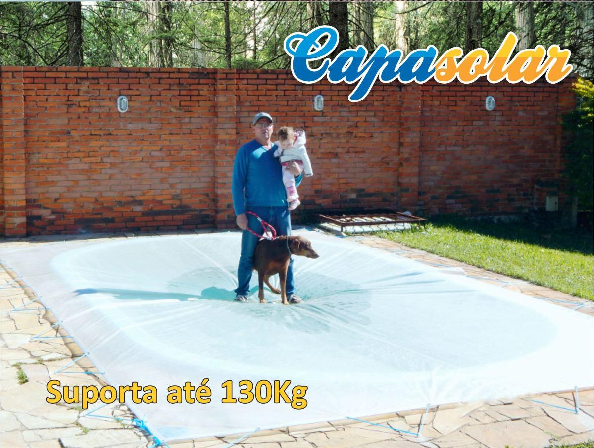 Capa para piscina capasolar 5 5m x 5 5m lona t rmica r for Lona termica piscina