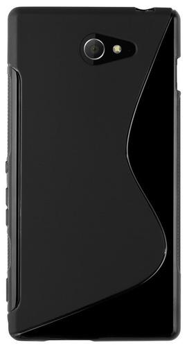capa s-type tpu xperia m2 d2303 d2305 d2306 + película tela
