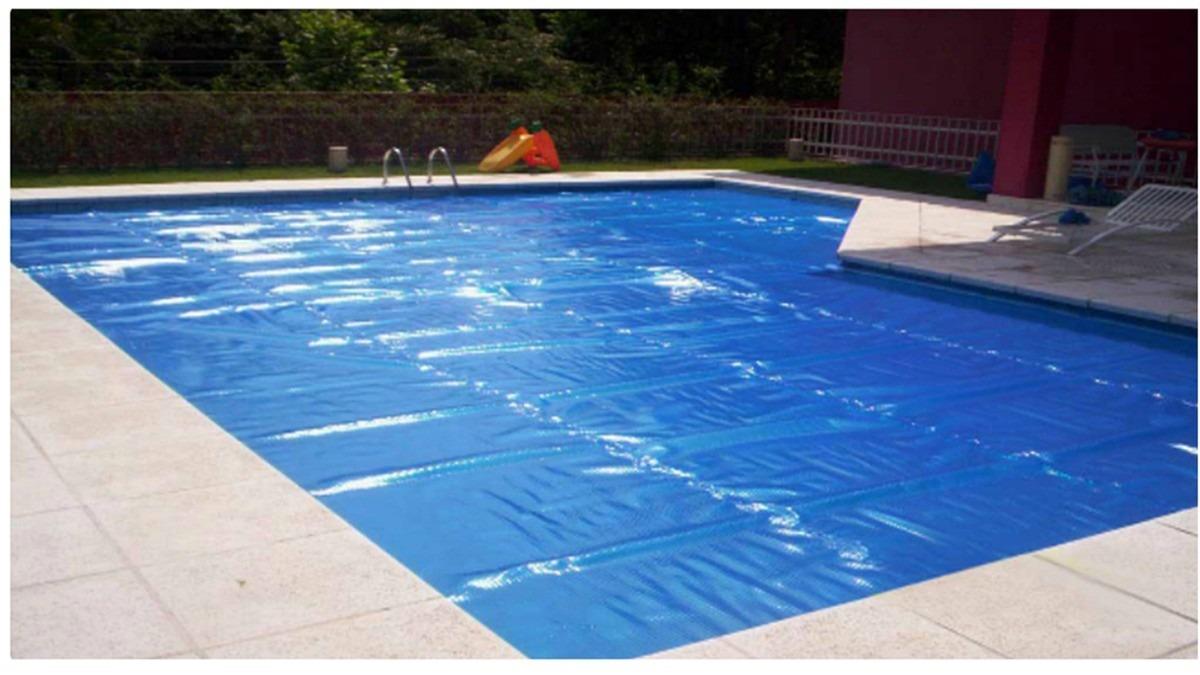 Capa t rmica bolha flutuante piscina 9 0x4 5 metros for Lona termica piscina
