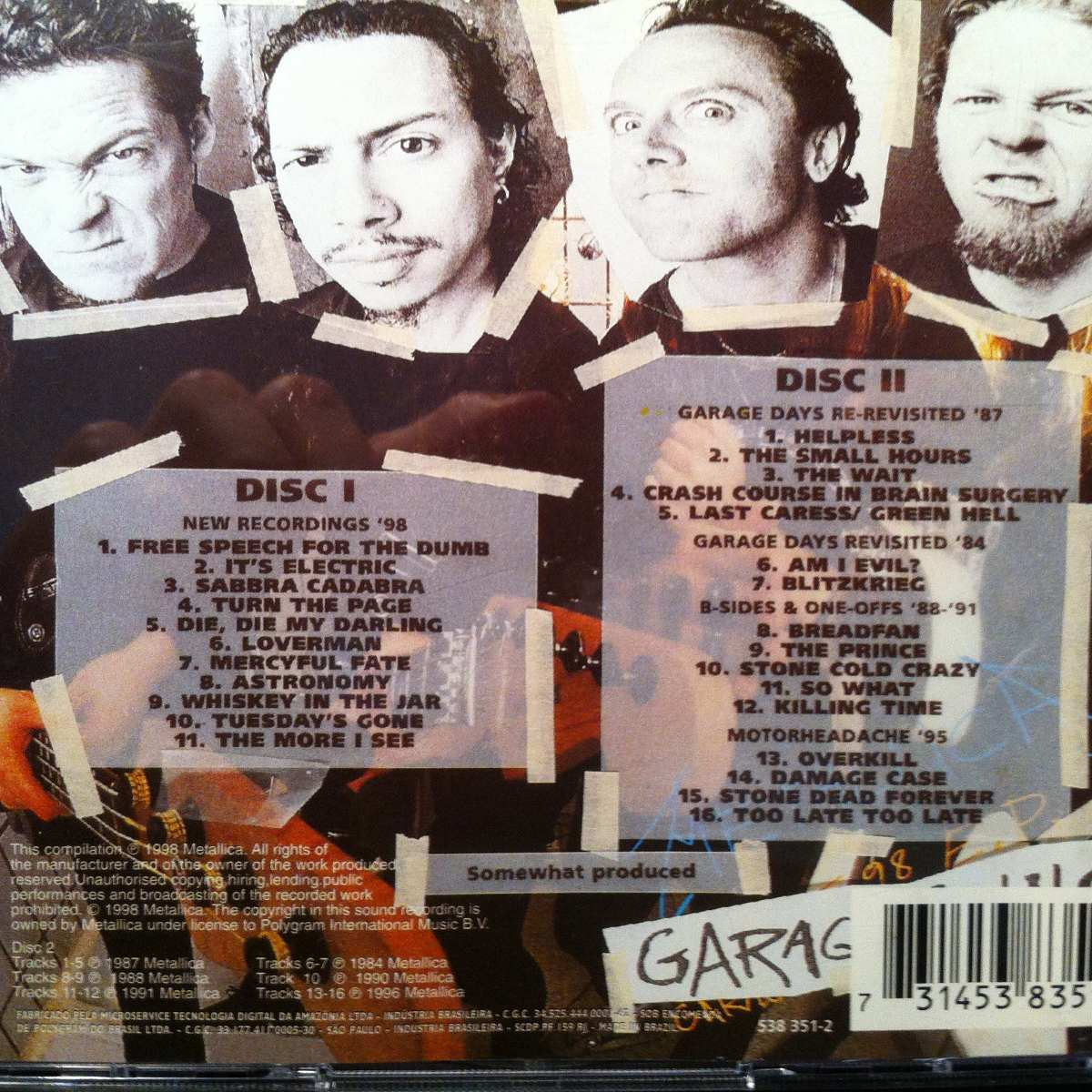 Cd Metallica Garage, Inc - Garage Days Re-revisited ...