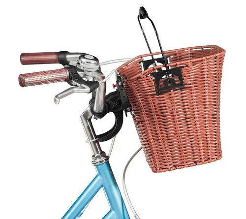 Cesta em vime para bicicletas blitz r 148 89 em - Cestas para bicicletas ...