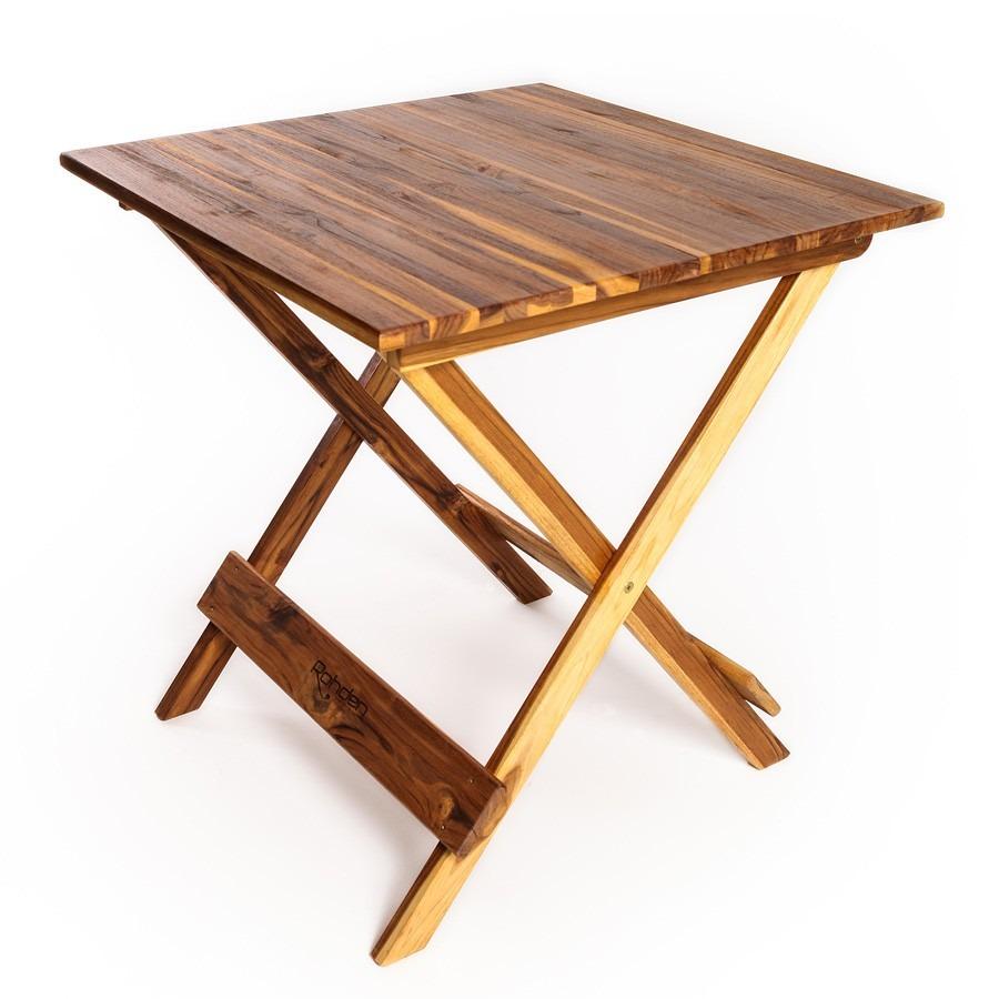 Conjunto de mesa e 4 cadeiras dobr veis em madeira de teca - Mesa de teca ...