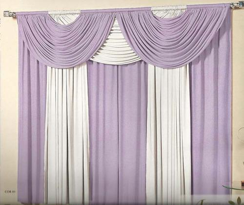 cortina riviera 3,00m x 2,80m sala decoração tibor enxovais