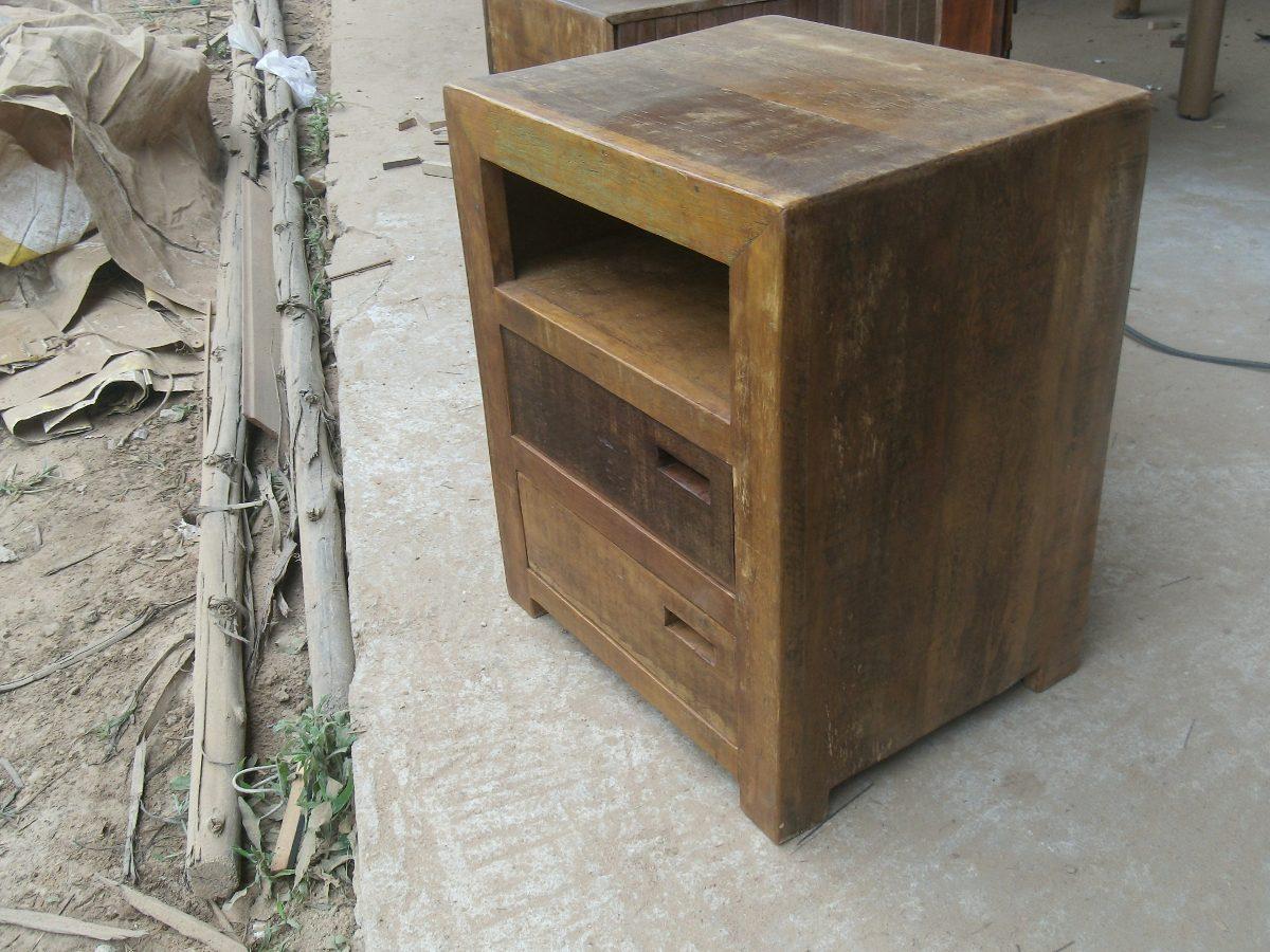 Criado Mudo Em Madeira Rustica R$ 350 00 em Mercado Livre #806748 1200x900