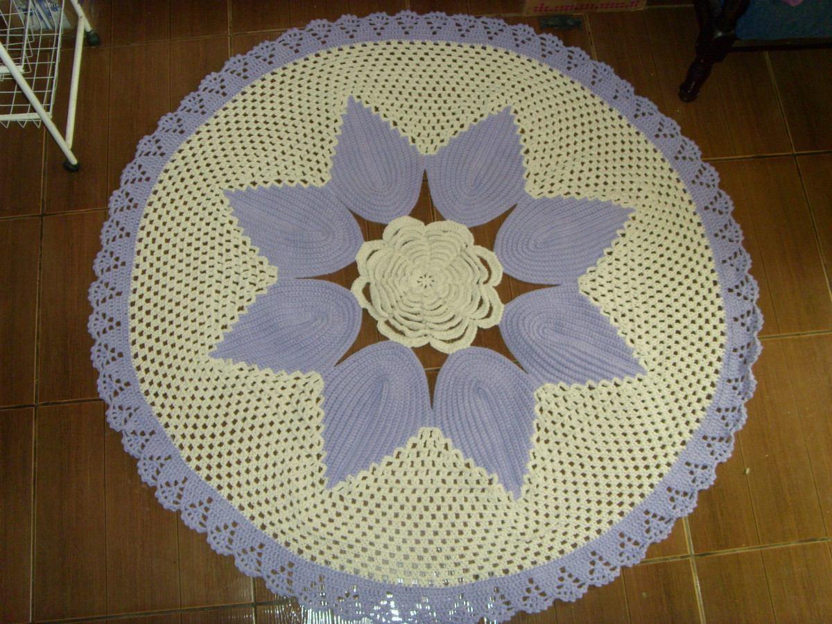 Adesivo De Porta Infantil ~ Cris artesanato Tapete De Flor Em Croche 1,5 M R$ 125,00 em Mercado Livre