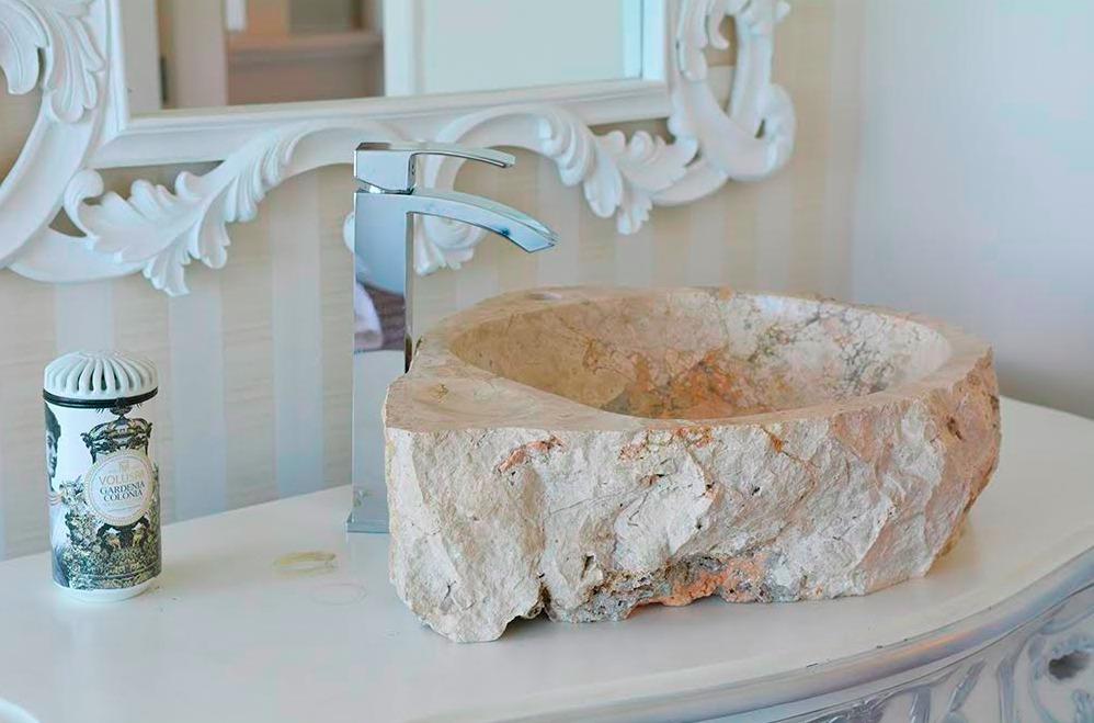 Cuba Pia Importada Luxo Banheiro Lavabo Pedra Natural Clara  R$ 1190,00 e # Cuba De Banheiro Importada