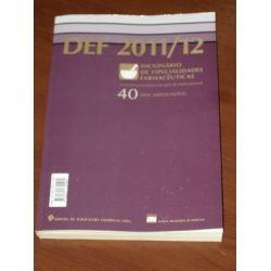 def dicionario de especialidades farmaceuticas 2011/2012
