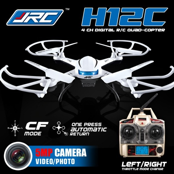 Drone Quadricoptero Jjrc H12c Com Camera Hd 5mp P Entrega