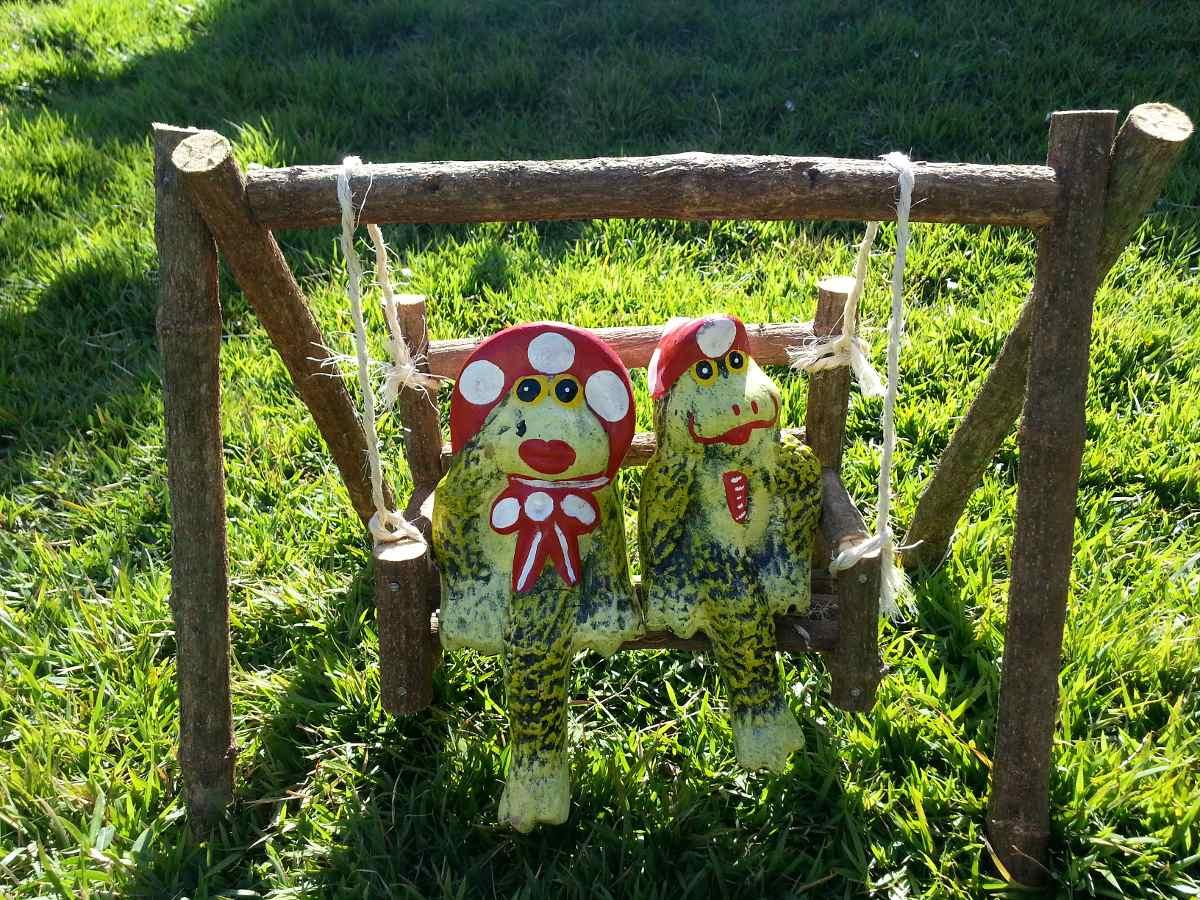 decoracao para jardins mercado livre: Para Jardins, Balanço Cipó-casal Sapo. – R$ 65,00 em Mercado Livre
