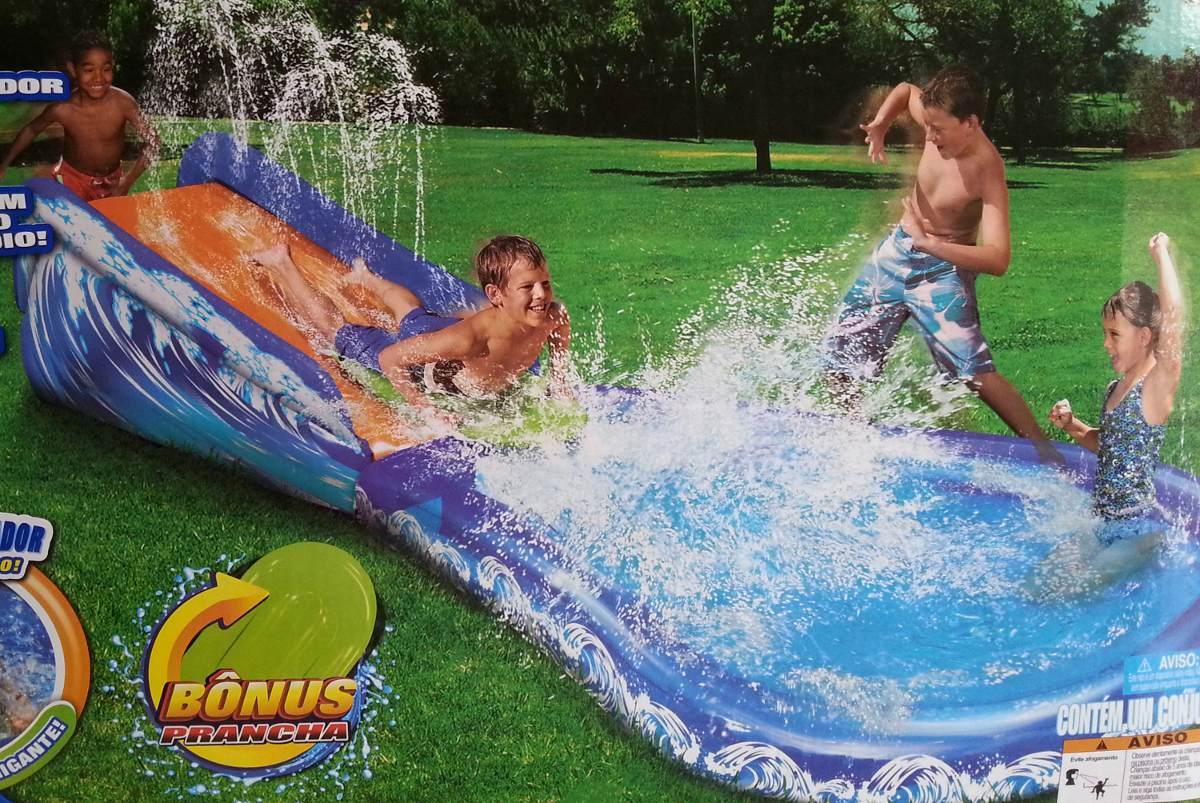 Escorregador infl vel piscina infantil tobog frete gr tis for Compra de piscinas