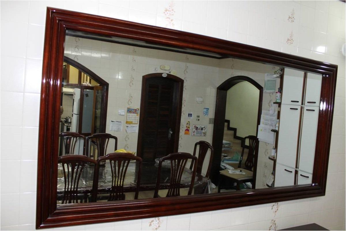 Espelho Para Sala De Jantar Em Bh ~ Espelho Em Moldura Para Copa Ou Sala Em Mogno Resistente  R$ 1800,00