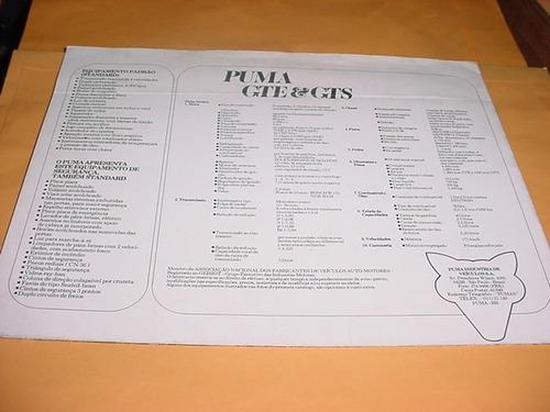 folder raro puma gte gts 76 77 1976 1977 poster