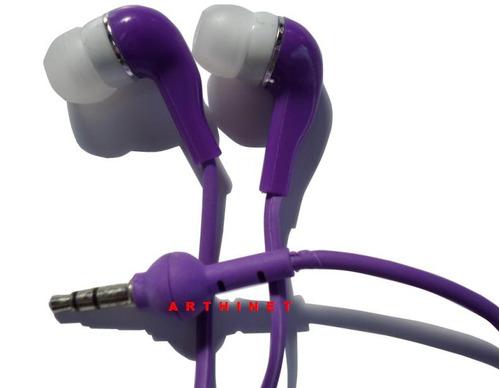 fone de ouvido intra-auricular mp3 mp4 p2 azul amarelo rosa