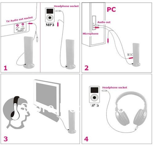 fone de ouvido wireless sem fio 5x1 com fm skype chat tv fm