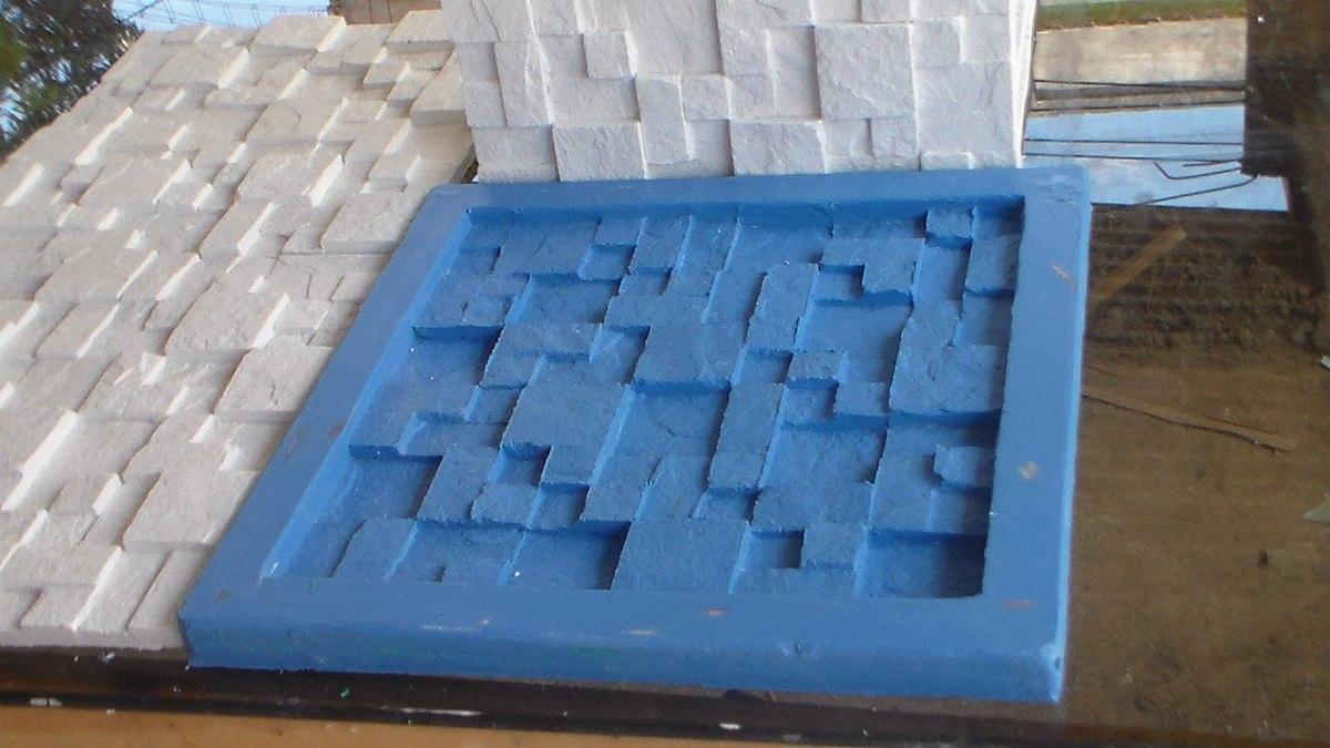 Forma para placa de revestimento de parede r 129 00 em - Placas para paredes ...