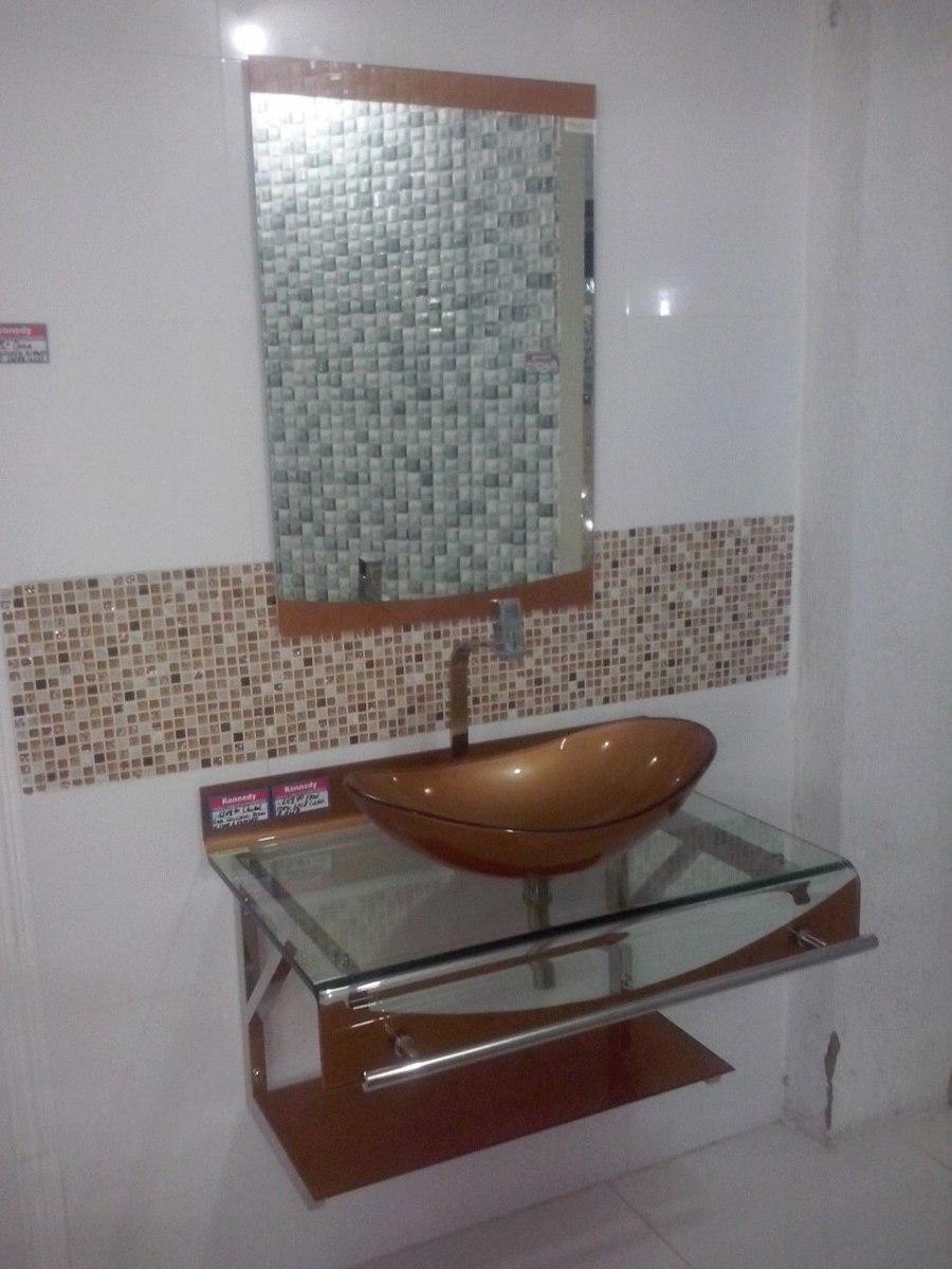 Gabinete Vidro Banheiro 70 Cm Dourado + Misturador Dourado  R$ 1099,00 em M -> Armario De Banheiro Oval